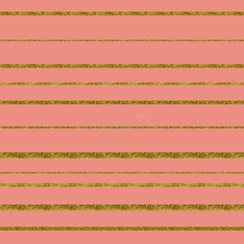 Feuille attrayante de couleur Fond rose sensible de cru Configuration m?tallique Papier numérique en pastel images stock