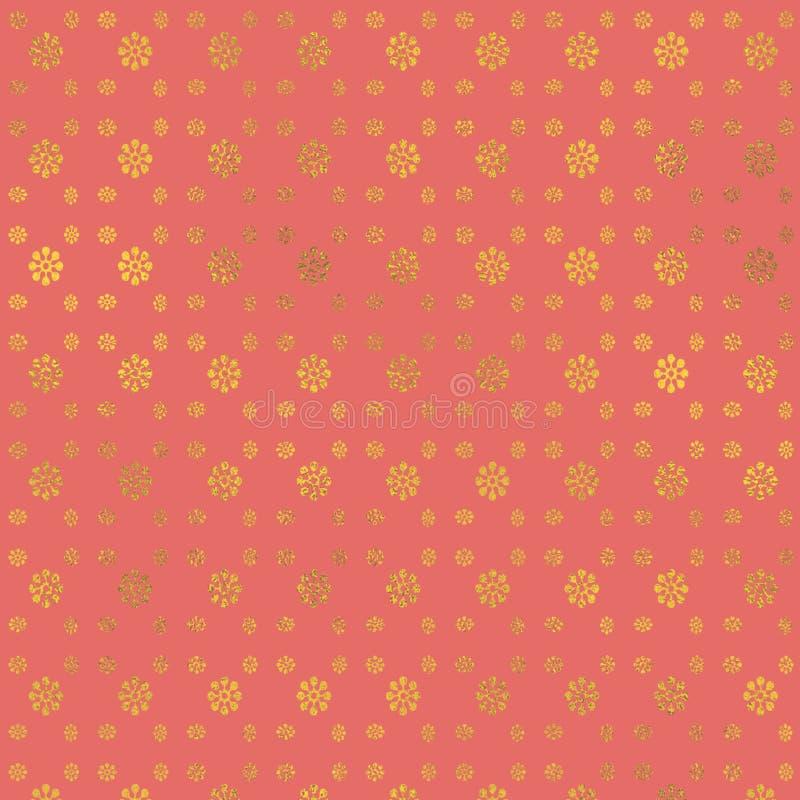 Feuille attrayante de couleur Fond rose sensible de cru Configuration m?tallique Papier numérique en pastel photos stock