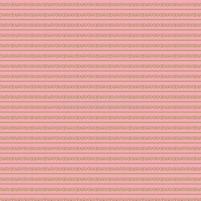 Feuille attrayante de couleur Fond rose sensible de cru Configuration m?tallique Papier numérique en pastel photographie stock