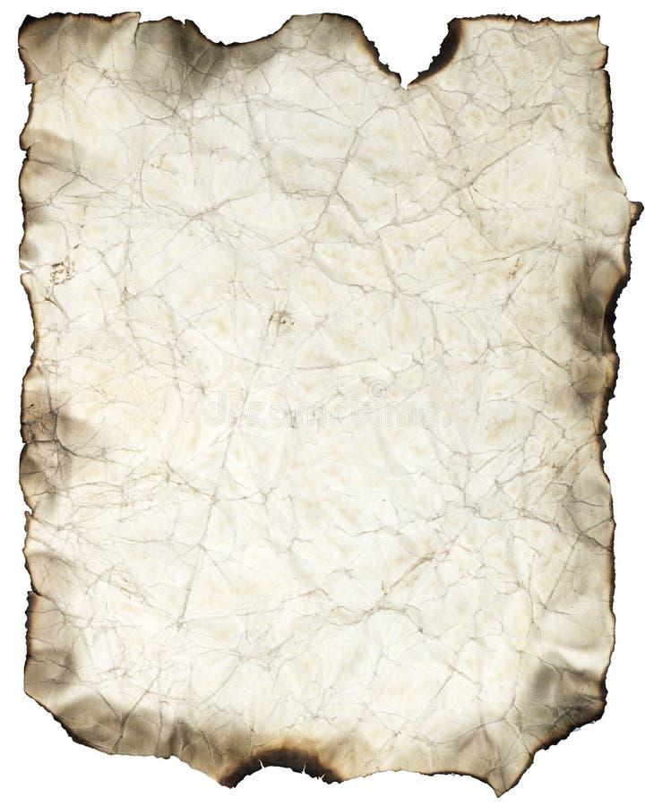 Feuille brûlée chiffonnée illustration libre de droits