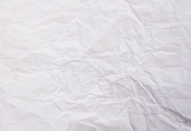 Feuille chiffonnée de livre blanc photographie stock libre de droits
