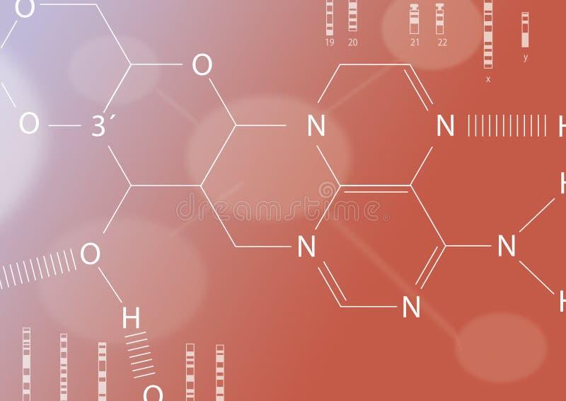Feuille chimique illustration libre de droits