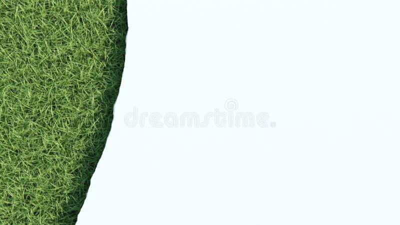 Feuille déchirée de papier au-dessus de champ d'herbe illustration stock