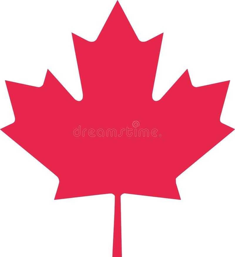 Feuille d'érable de Canada illustration libre de droits