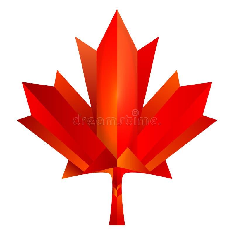 Feuille d'érable de Canada illustration stock