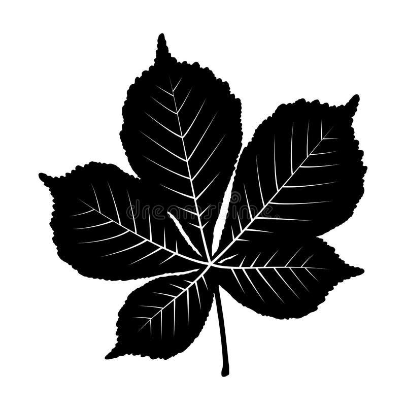 Feuille d'arbre de châtaigne illustration stock