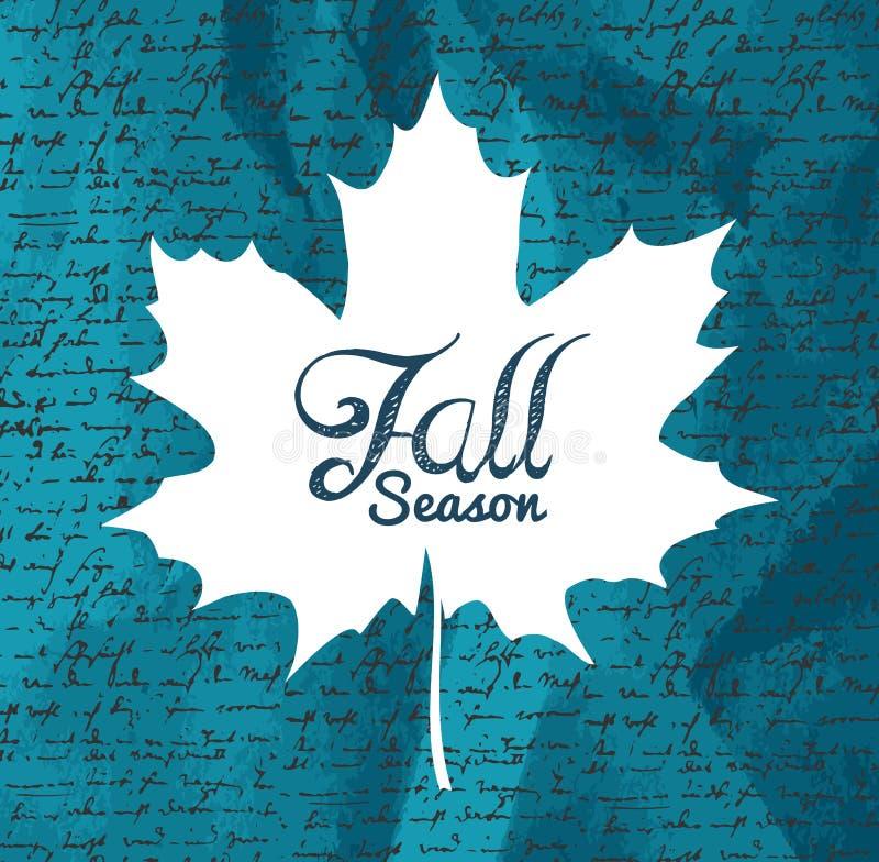 Feuille d'automne des textes de «automne» avec le fond EPS1 d'écritures illustration stock