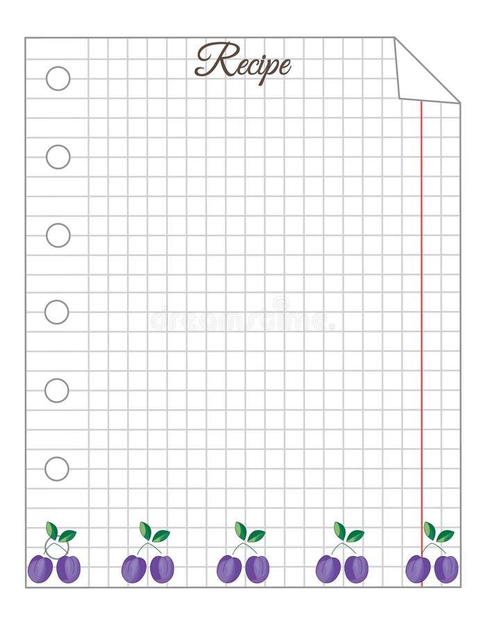 Feuille dans une cage Une feuille de bloc-notes jaune collant d'ombre de circuit papier de note de d?coupage Papier pour des rece illustration de vecteur