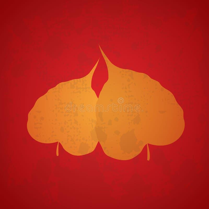 Download Feuille de bodhi d'arbre illustration stock. Illustration du fond - 45371057