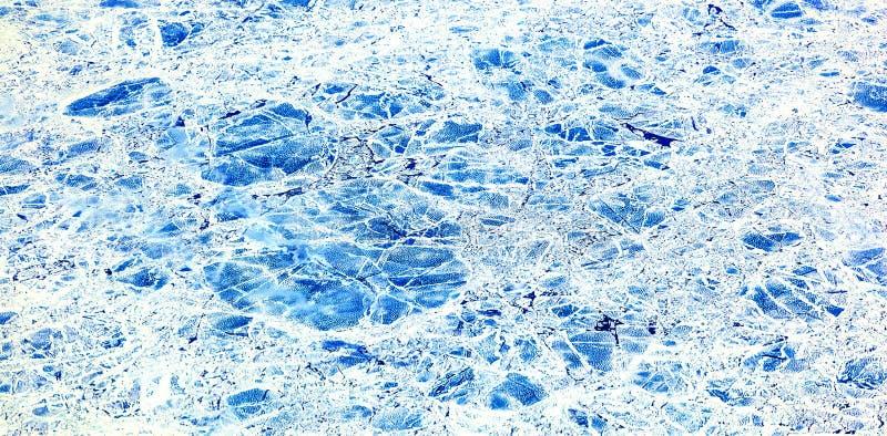Feuille de glace flottant sur l'Arctique image libre de droits