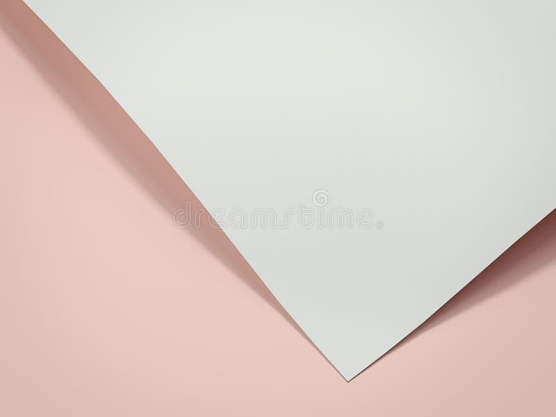 Feuille de livre blanc rendu 3d illustration de vecteur