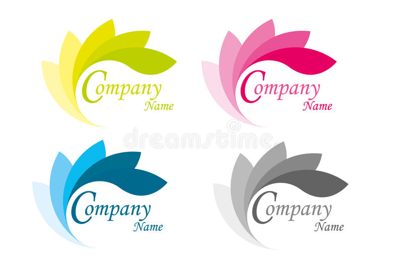 Feuille de logo photos stock