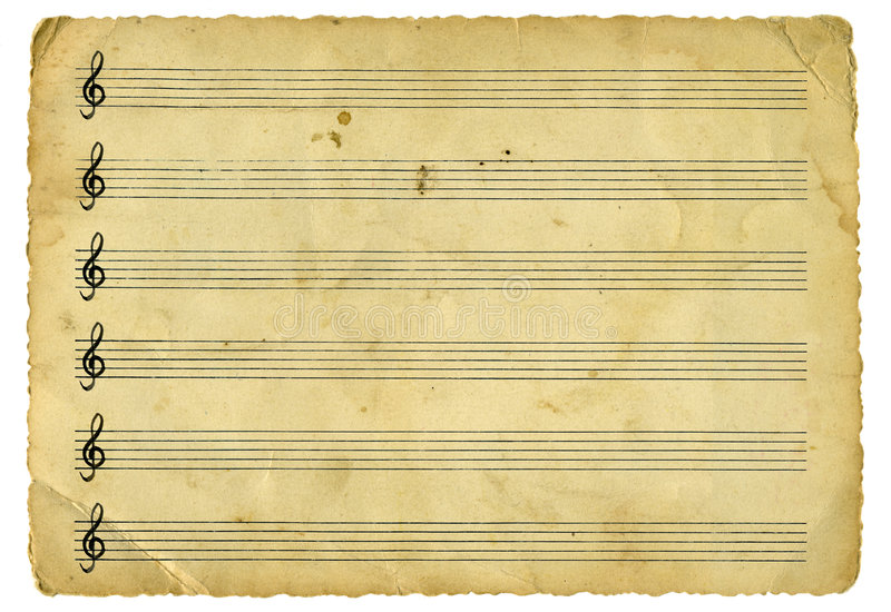 Feuille de musique de cru photographie stock libre de droits