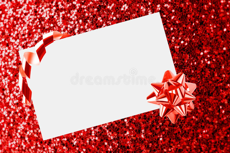 Feuille de Noël de papier avec l'arc images stock