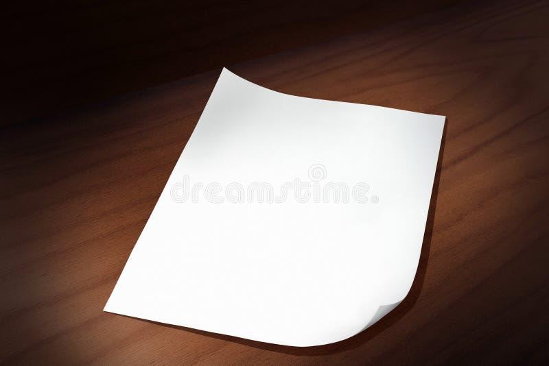 Feuille De Papier Image libre de droits