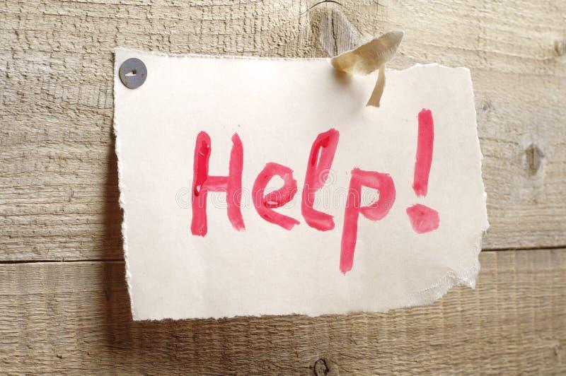Feuille de papier avec l'aide de mots photo stock
