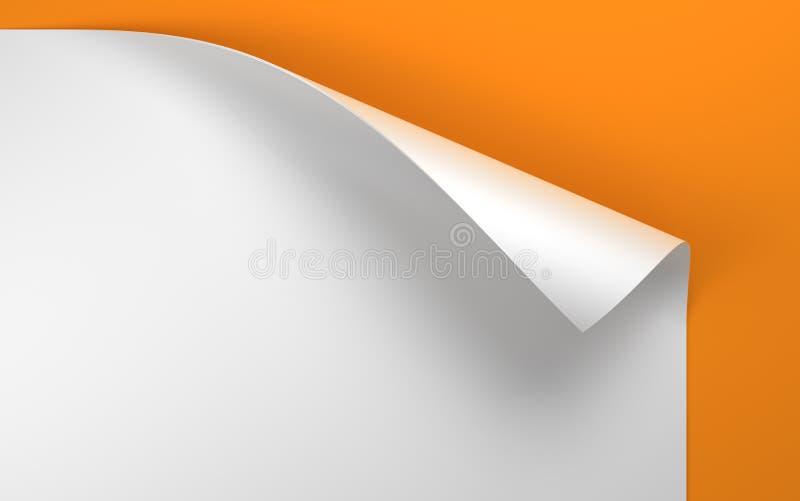 Feuille de papier avec le coin enroulé illustration de vecteur