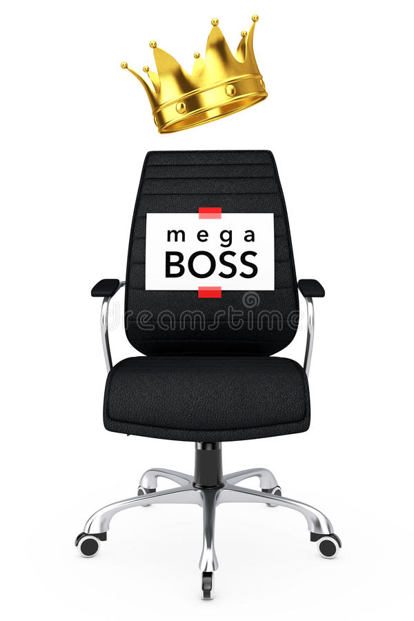 Feuille de papier avec le patron méga Message au-dessus du patron en cuir noir Offic illustration de vecteur