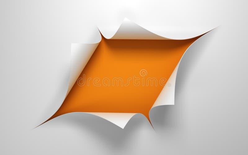 Feuille de papier avec le trou illustration libre de droits