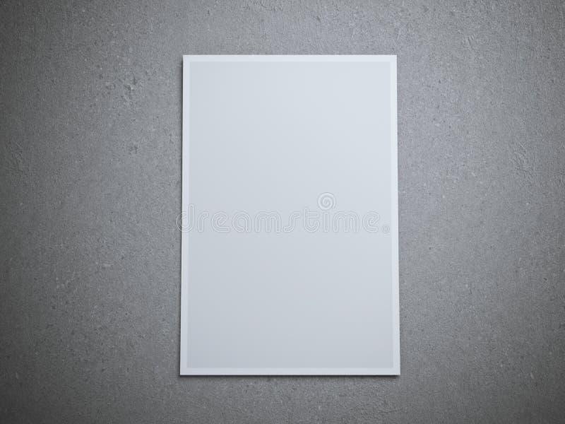 Feuille de papier blanc sur le plancher images libres de droits
