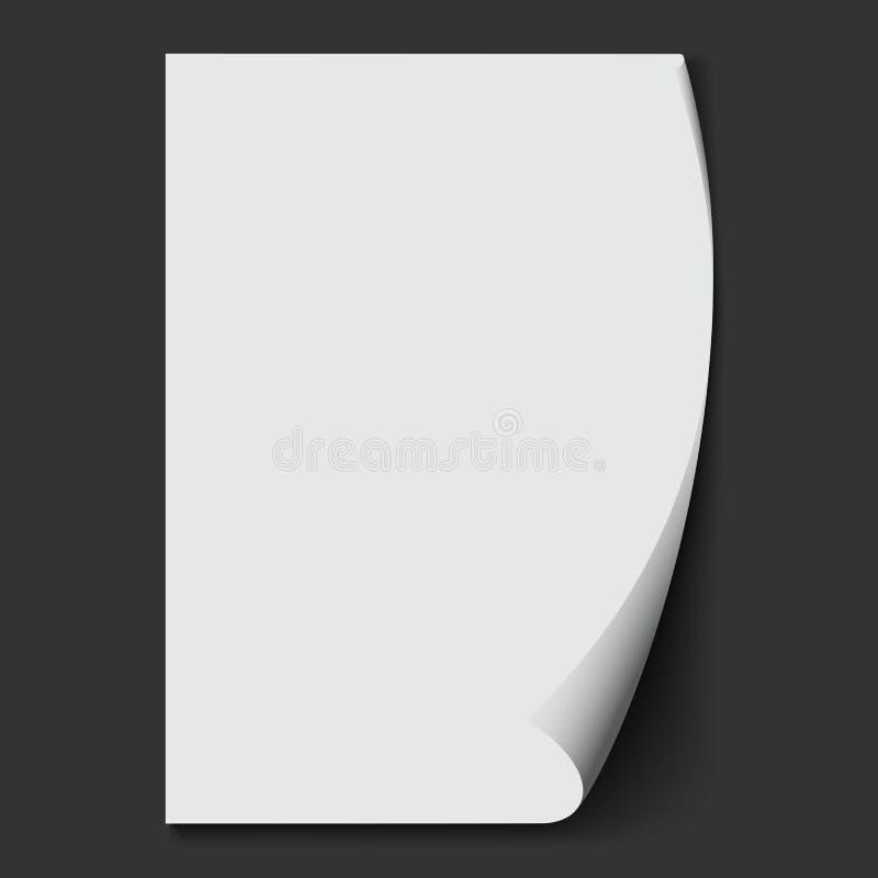 Feuille de papier blanche Fond de vecteur illustration de vecteur