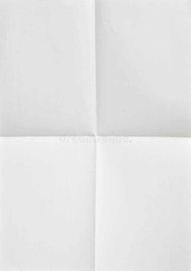 Feuille de papier blanche pliée photos stock