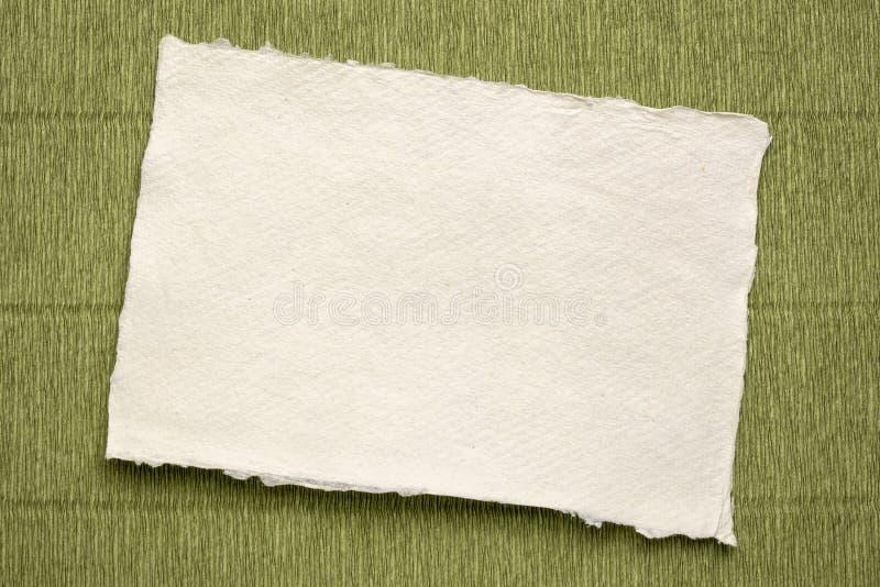 Feuille de papier de chiffon blanc de Khadi image stock