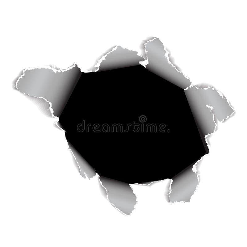 feuille de papier de trou illustration de vecteur