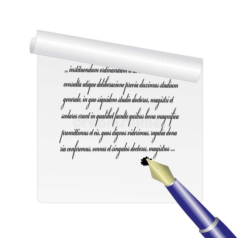 Feuille de papier - illustration de vecteur illustration libre de droits