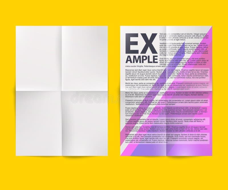 Feuille de papier pliée par blanc vide illustration de vecteur