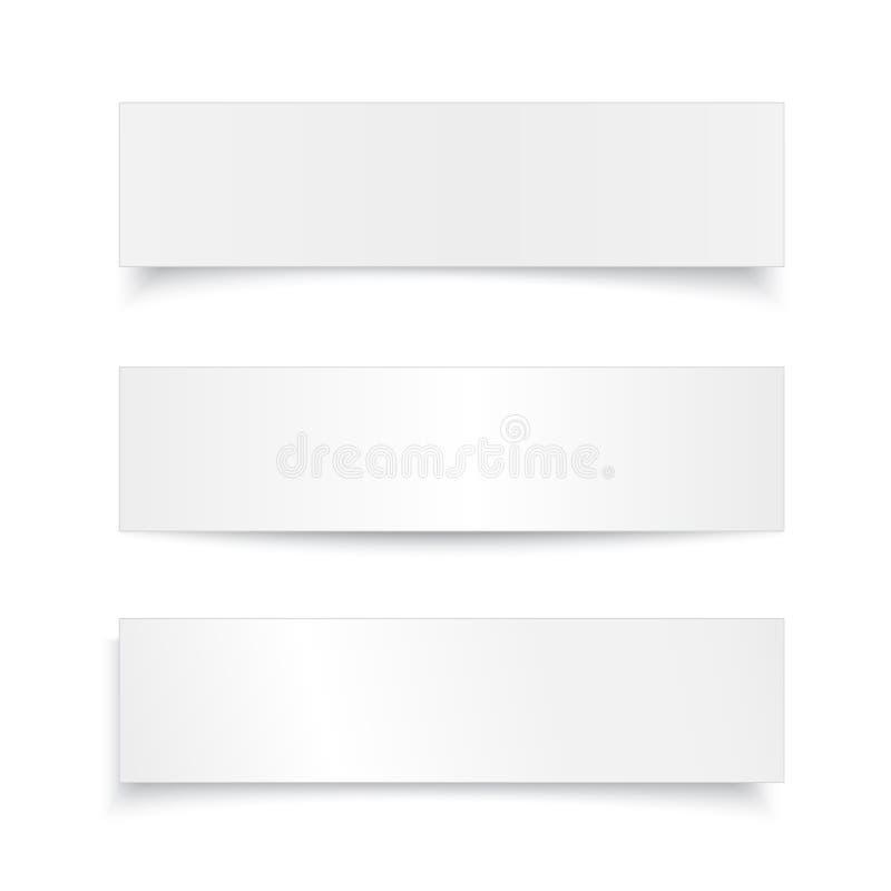 Feuille de papier réaliste réglée de vecteur, bannière avec illustration de vecteur