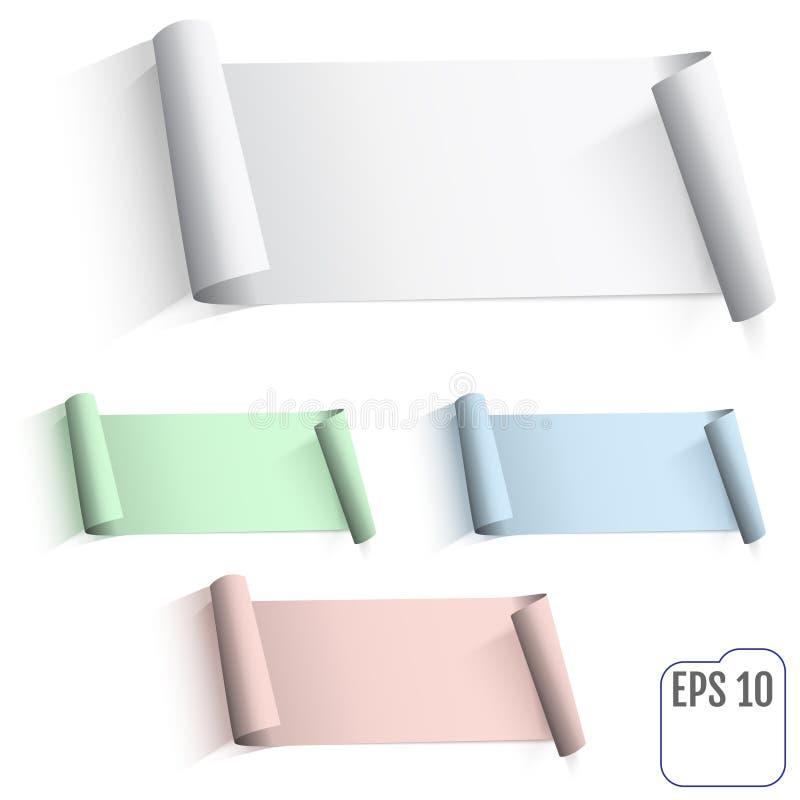 Feuille de papier vide réaliste avec les bords tordus Peut être a utilisé illustration de vecteur