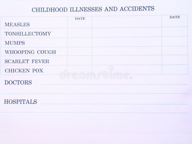 Feuille de vaccination images libres de droits