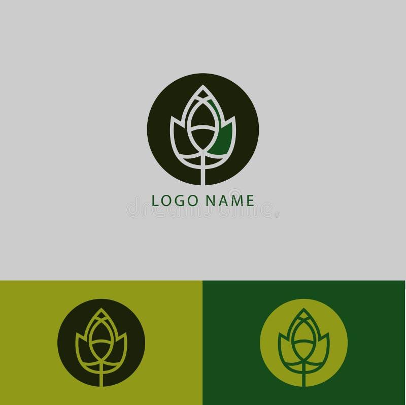 Feuille de vecteur Embl?me abstrait, concept de construction, logo, ?l?ment de logotype pour le calibre - Le fichier du vecteur illustration de vecteur