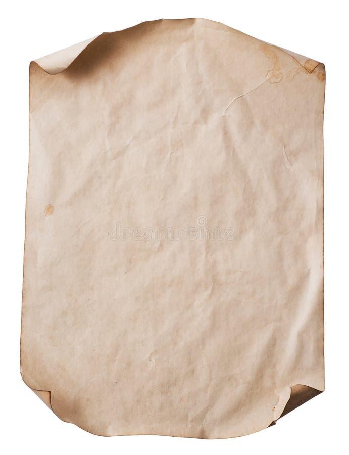 Feuille de vieux papier image stock