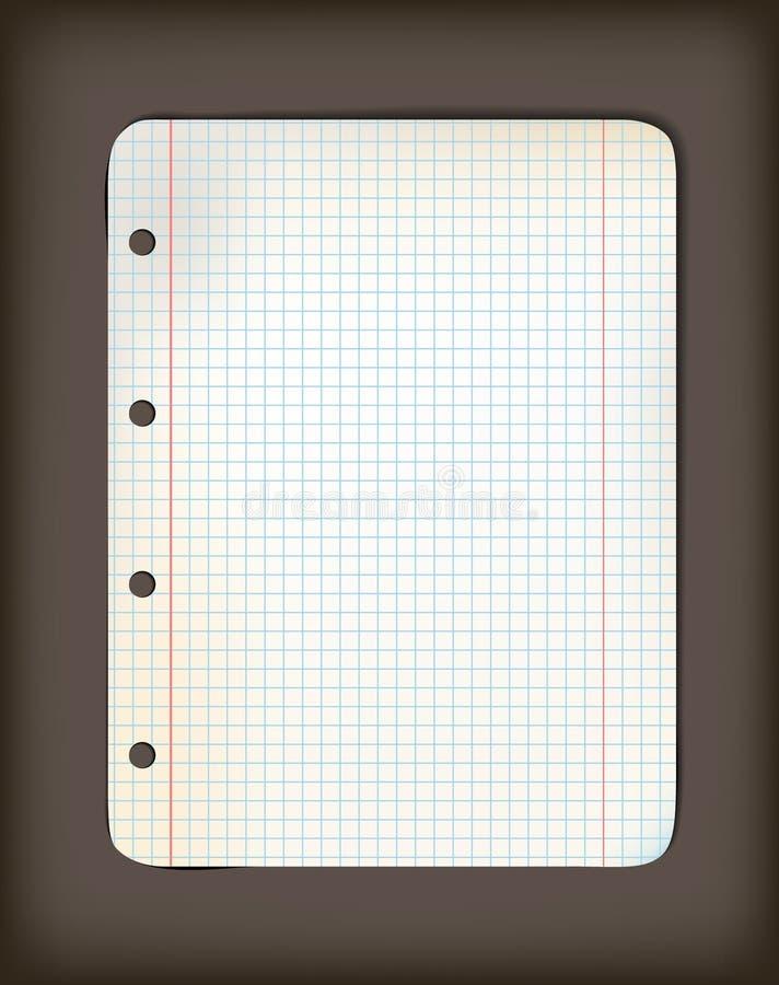 Feuille de vieux papier grunge carré illustration stock