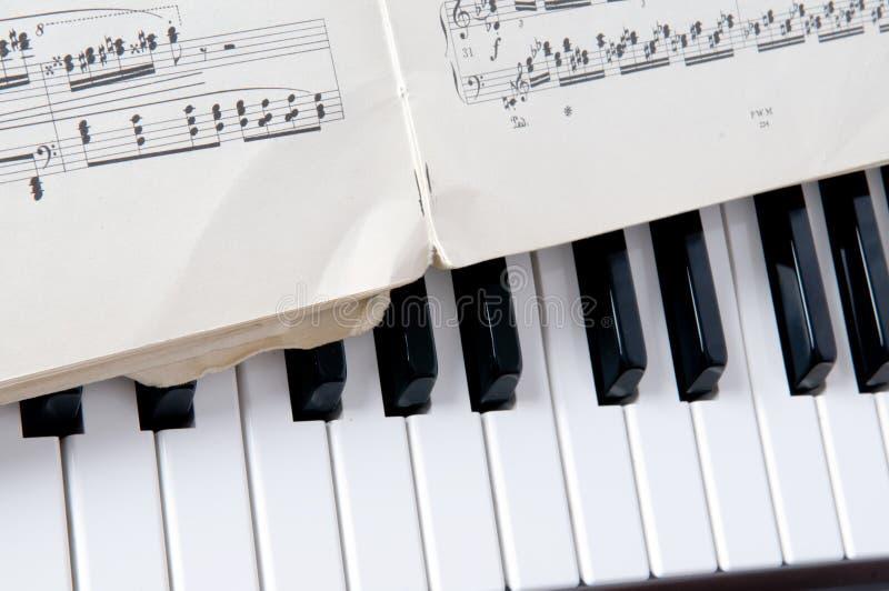 Feuille et piano de notes musicales photo libre de droits