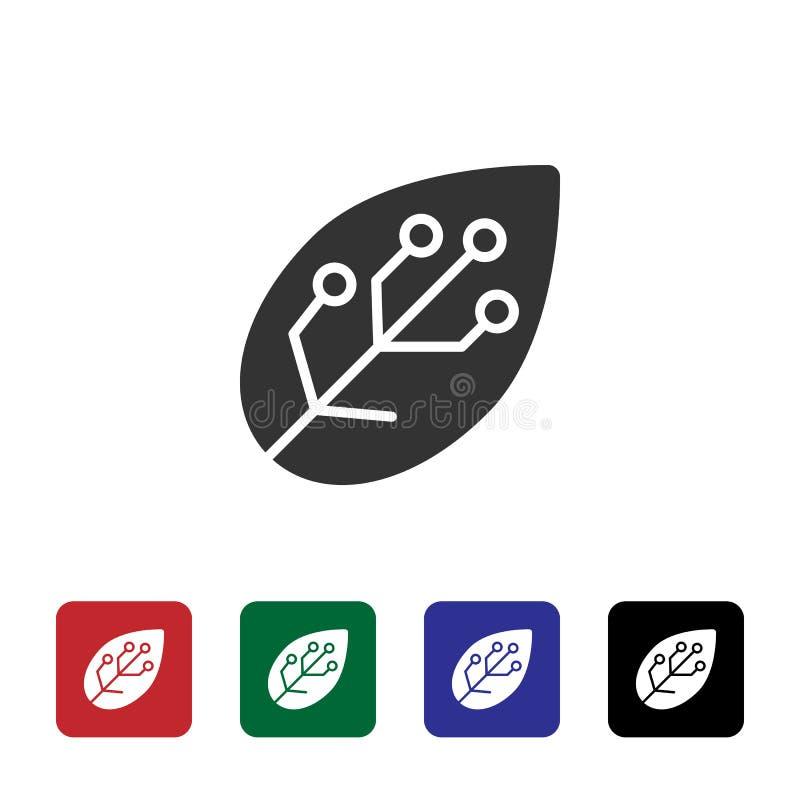 Feuille, intelligente, icône de vecteur de ferme Illustration simple d'?l?ment de concept de biotechnologie Feuille, intelligente illustration stock