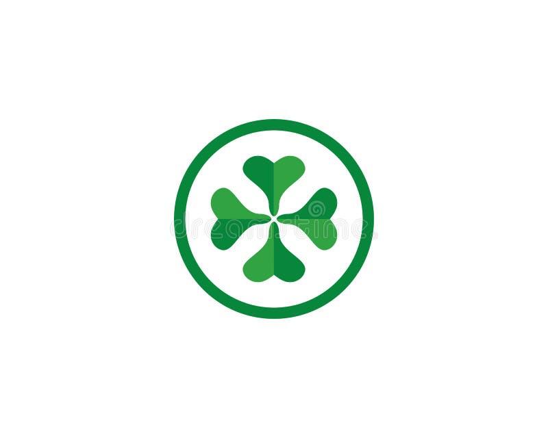 Feuille Logo Template de trèfle illustration de vecteur