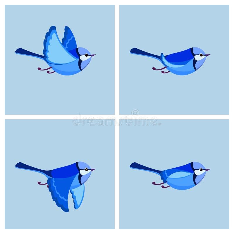 Feuille masculine volante de lutin d'animation de roitelet féerique splendide illustration de vecteur