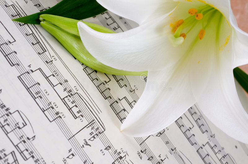 feuille musicale images stock