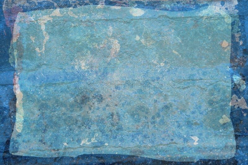 Feuille rustique grunge bleue images libres de droits