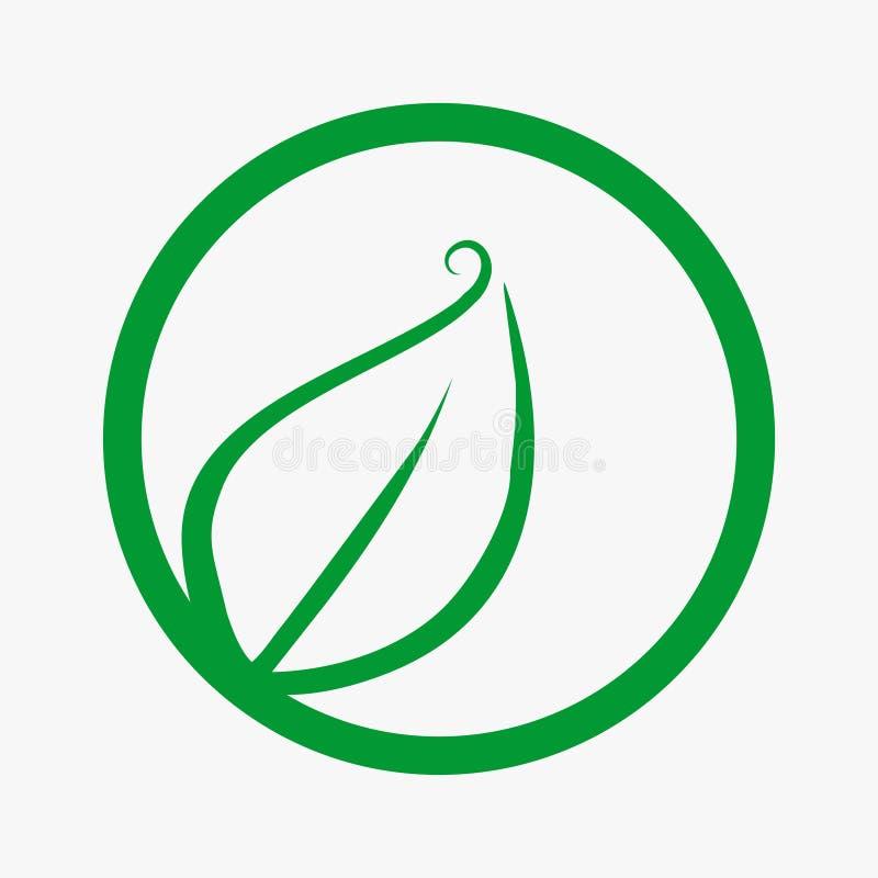 Feuille, usine, logo, écologie, les gens, bien-être, vert, feuilles, ensemble d'icône de symbole de nature des conceptions illustration stock
