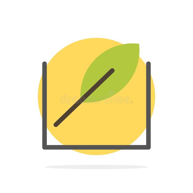 Feuille, vert, icône plate de couleur de fond de cercle d'abrégé sur arbre illustration stock