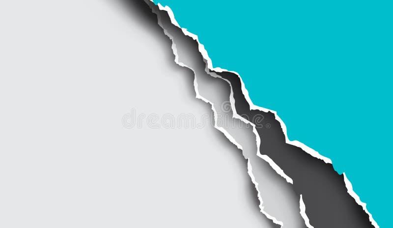 Feuilles déchirées et déchirées de papier de vecteur illustration de vecteur