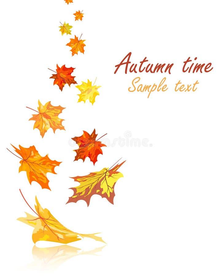 Feuilles d'érable d'automne illustration libre de droits