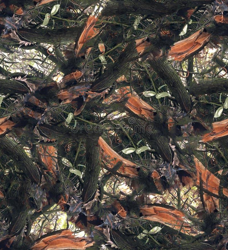 Feuilles d'automne sur la brousse. Idéal pour la chasse et à des fins militaires. Un camouflage réaliste, un modèle transparen image stock