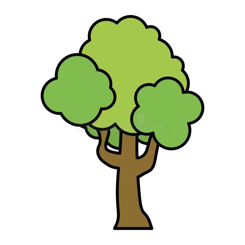 Feuilles de branches de tige d'arbre de nature de couleur illustration libre de droits