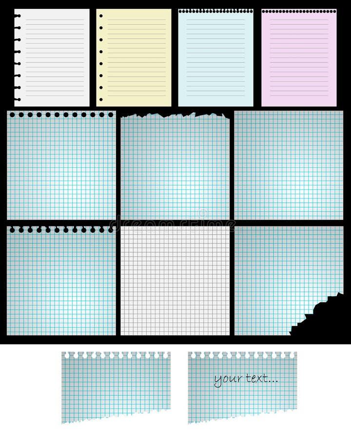 Feuilles de papier illustration libre de droits