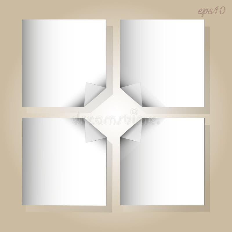 Feuilles de papier blanches illustration libre de droits